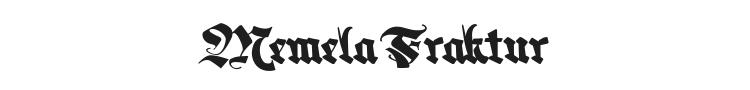 Memela Fraktur Font Preview