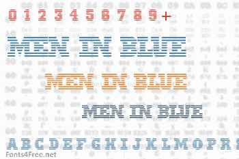Men In Blue Font