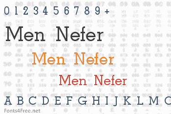 Men Nefer Font