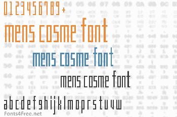 Mens Cosme Font