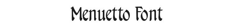 Menuetto Font Preview
