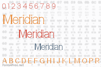 Meridian Font