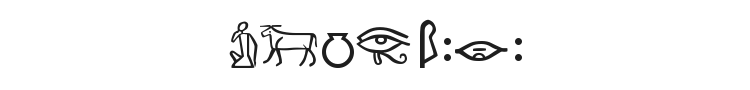 Meroitic Hieroglyphics Font Preview