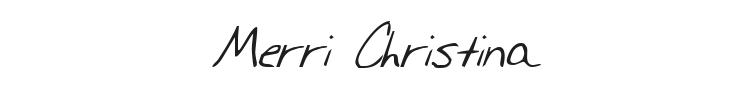 Merri Christina Font Preview