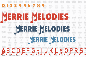 Merrie Melodies Font