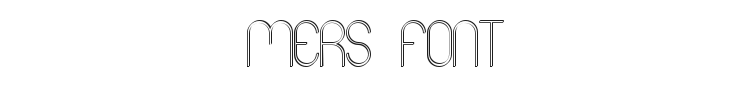 Mers Font Preview