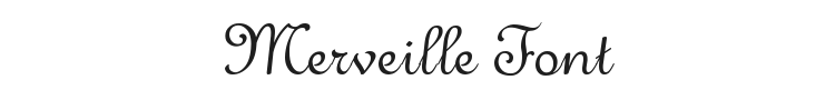 Merveille Font Preview