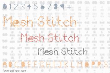 Mesh Stitch Font