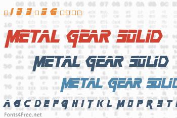 Metal Gear Solid Font