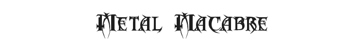 Metal  Macabre Font Preview
