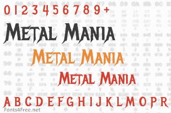 Metal Mania Font
