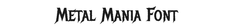 Metal Mania Font Preview