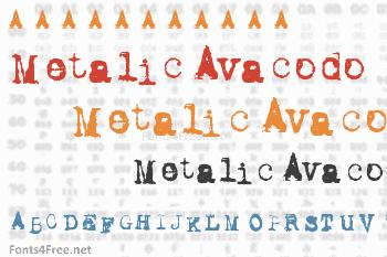 Metalic Avacodo Font