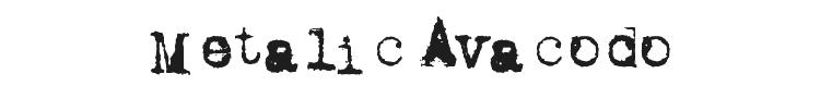 Metalic Avacodo Font Preview