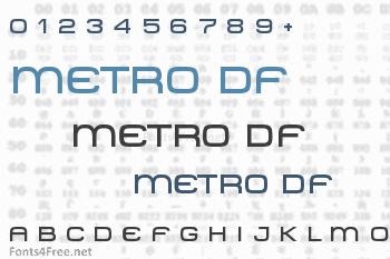 Metro DF Font