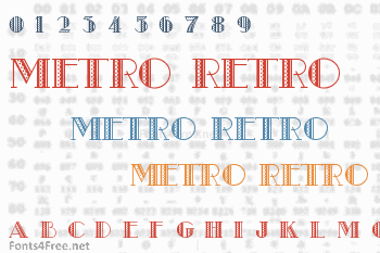 Metro Retro Font