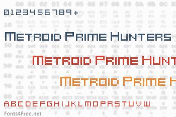Metroid Prime Hunters Font