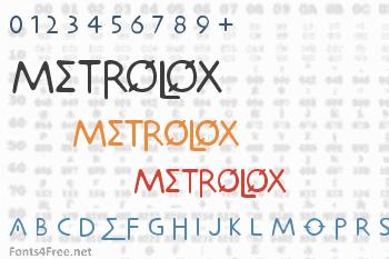 Metrolox Font