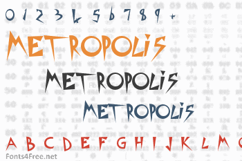 Metropolis Movie Font