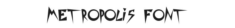 Metropolis Movie Font Preview