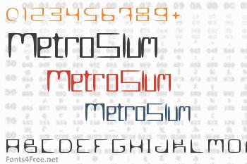 MetroSlum Font