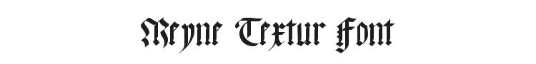 Meyne Textur Font Preview