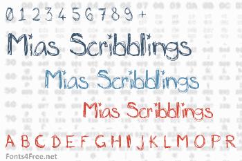 Mias Scribblings Font