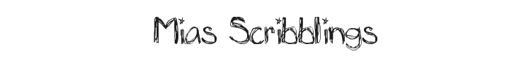 Mias Scribblings Font Preview
