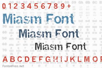 Miasm Font