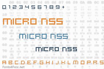 Micro N55 Font