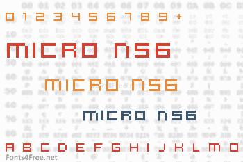 Micro N56 Font