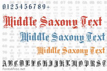 Middle Saxony Text Font
