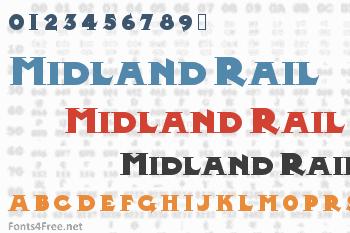 Midland Rail Font