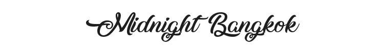 Midnight Bangkok Font Preview