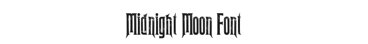 Midnight Moon Font Preview