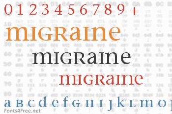 Migraine Font