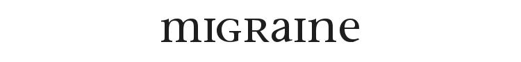 Migraine Font Preview