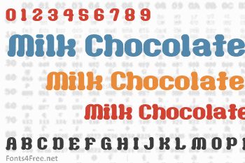 Milk Chocolate Font