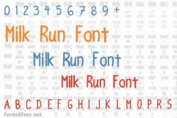Milk Run Font