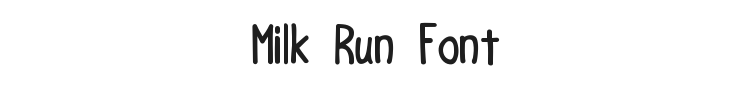 Milk Run Font Preview