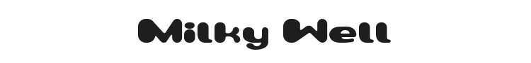 Milky Well Font