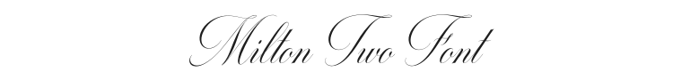 Milton Two Font