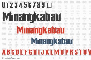 Minangkabau Font