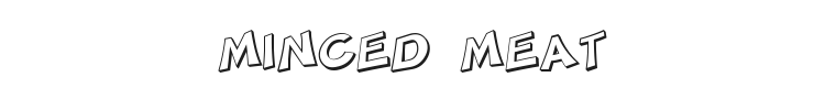 Minced Meat Font