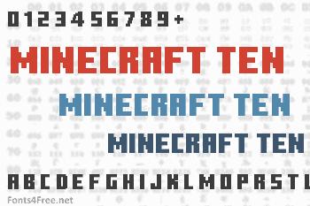 Minecraft Ten Font