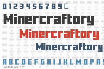 Minercraftory Font
