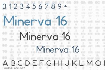 Minerva 16 Font