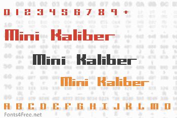 Mini Kaliber Font