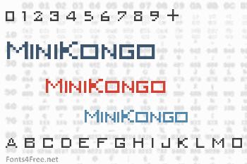 MiniKongo Font