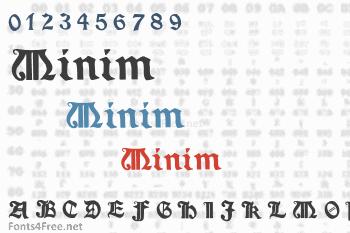 Minim Font